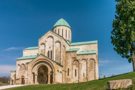 11th: Bagrati Cathedral or The Cathedral of the Dormition is an 11th century cathedral in Kutaisi, Georgia. Stock Photo
