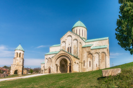 Bagrati Cathedral or The Cathedral of the Dormition is an 11th century cathedral in Kutaisi, Georgia. Stock Photo