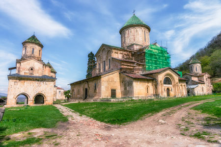Georgia, Kutaisi -  Gelati is a medieval monastic complex near Kutaisi. Gelati was founded in 1106 by King David IV and is recognized by UNESCO as a World Heritage Site. Stock Photo