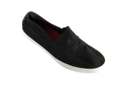 slipper: black slipper Stock Photo