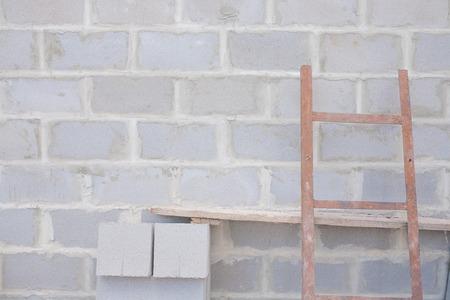cinder: a cinder block wall background, brick texture Stock Photo