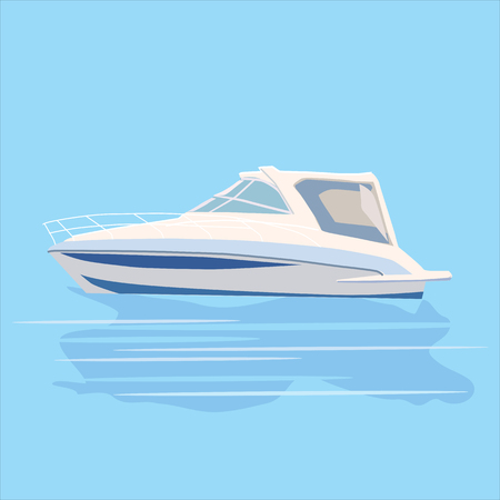 punting: Set pleasure boats of different colors