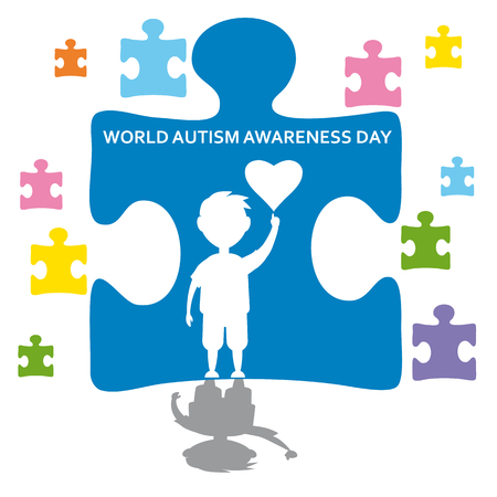Creative concept vector illustration for World Autism awareness day. Can be used for banners, backgrounds, badge, icon, medical posters, brochures, print and health care awareness campaign for autism.