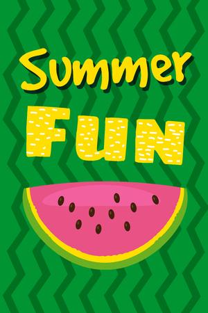 Hello summer watermelon card design. vector illustration Stock Illustratie