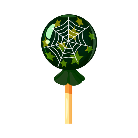 Colored sweets, lollipop, hard candy, Web, caramel, Halloween holiday. Vector, isolated, cartoon style Stock Photo