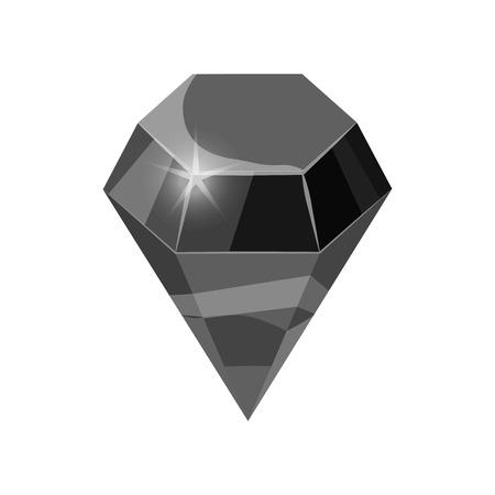 Diamond sparkling, shining black color isolated on white background, cartoon style, vector illustration Reklamní fotografie - 111764590