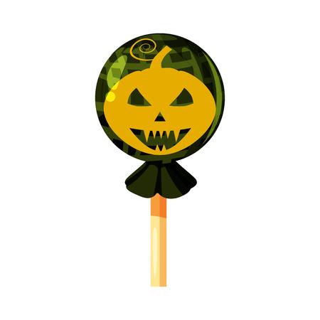 Lollipop Halloween, hard candy, Pumpkin Jack Lamp character icon