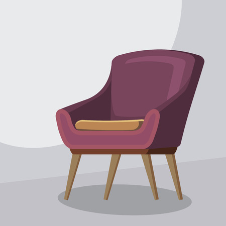 Chair cartoon, isolated vector illustration, cartoon style