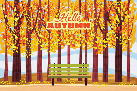 Hello autumn, Autumn alley, path in the park, bench, fall, autumn leaves mood