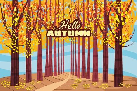 Hello autumn, Autumn alley, path in the park, fall, autumn leaves mood
