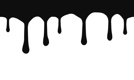 Current drops. Current inks. Paint dripping. Dripping liquid. Current paint, stains. Paint flows. Vector illustration. Vector, isolated Ilustração