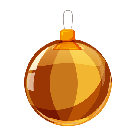 Colour christmas ball isolated on white background