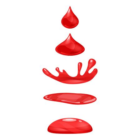 A drop of liquid, water falls and makes a splash Archivio Fotografico - 127158635
