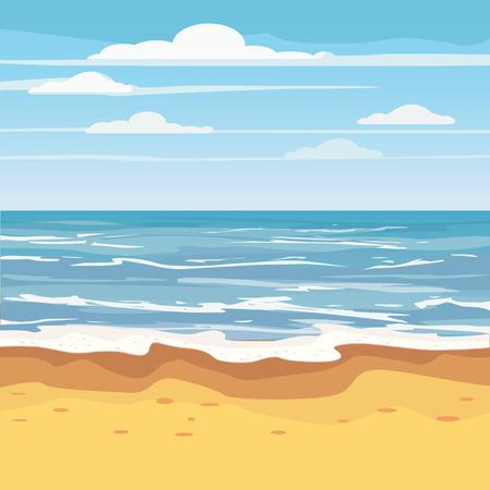 Seascape Tropical Beach Viajes Vacaciones Ocio Naturaleza Concepto Ilustración de vector