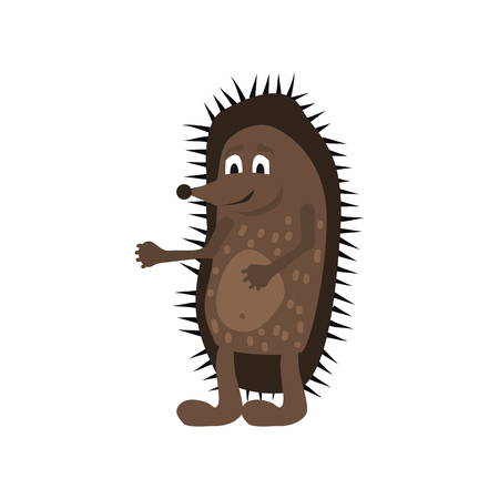 Cute Hedgehog, forest animal, suitable for books, websites, applications, trend style graphics, vector, illustration, isolated, cartoon style