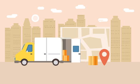 Online delivery of goods, tracking online
