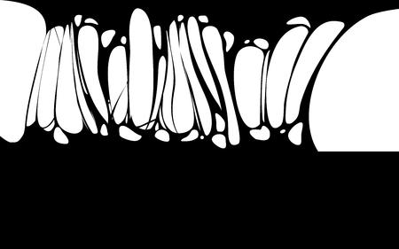 Slime sticky black banner, spittle, snot. Frame of scary zombie, alien slime Illustration