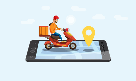 Online delivery service, tracking online