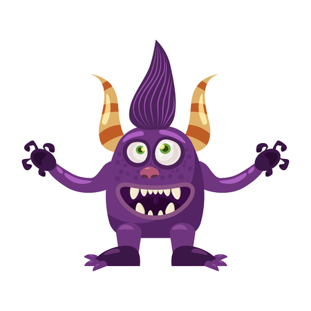 Troll Bigfoot cute funny fairytale character, emotions, cartoon style, for books, advertising, stickers, vector, illustration, banner, isolated