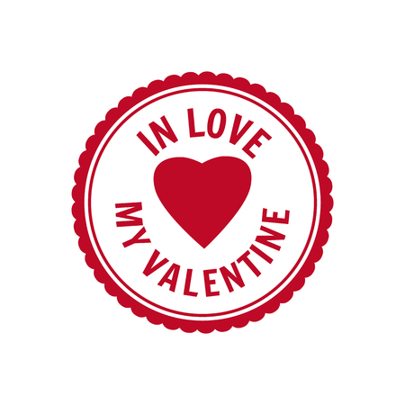 Set Valentine s Day and Wedding Romantic postage stamp