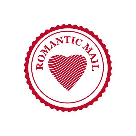 Valentine s Day and Wedding Romantic postage stamp