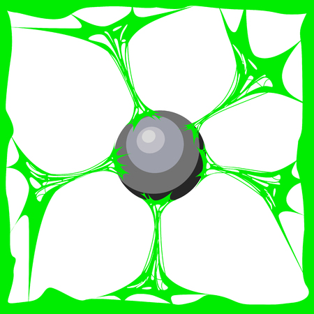 Green slime background. Realistic cartoon texture Slime