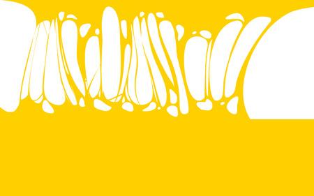 Slime sticky yellow honey banner, spittle, snot. Frame of scary zombie, alien slime