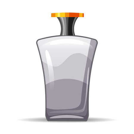 Perfume bottls icon vector illustration. Eau de parfum. Eau de toilette. cologne, toilet water, care of the body, beauty, vector, isolated, cartoon style