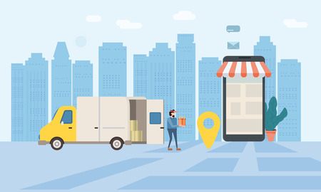 Online delivery of goods, tracking online tracker
