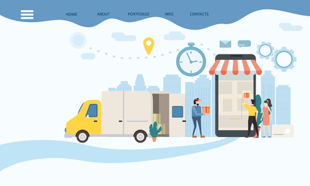 Landing delivery of goods, tracking of goods online tracke