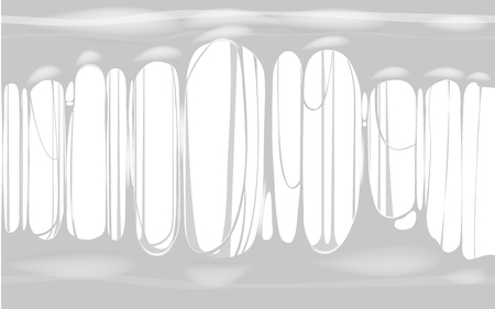 Sticky slime white template banner with copy space. Popular kids sensory toy vector illustration Standard-Bild - 128097334