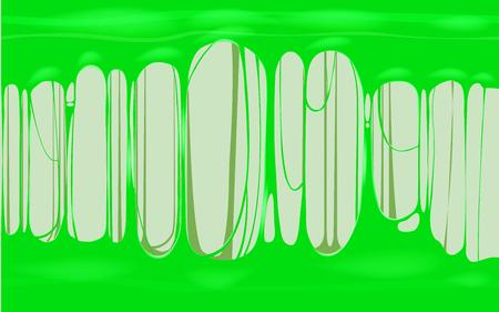 Sticky slime green template banner with copy space. Popular kids sensory toy vector illustration Standard-Bild - 128097345