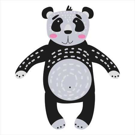 Panda cute funny character. Childish vector illustration in scandinavian style Illustration