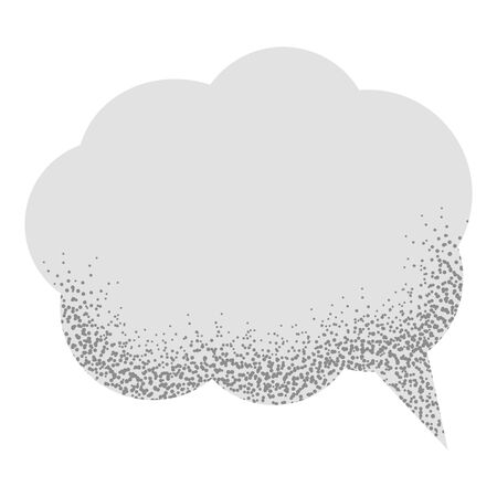 Speech empty bubble with with noise sand texture trendy