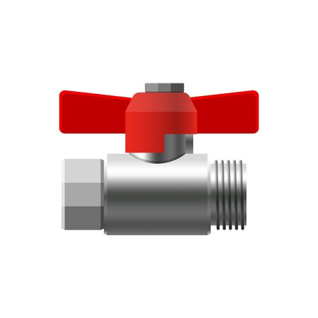 Valve ball, fittings, pipes of metal piping system. Valve water, oil, gas pipeline, pipes sewage Banque d'images - 137859735