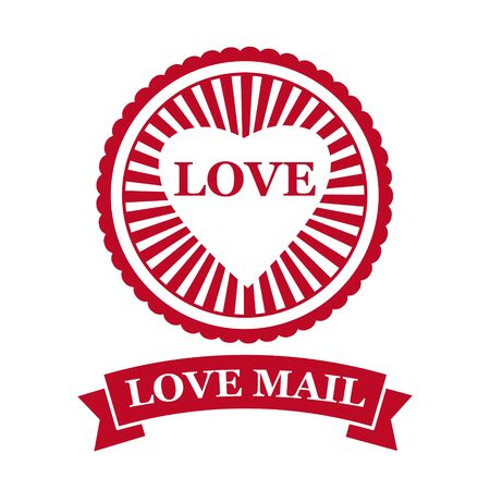 Love Mail icon Happy Valentine day Heart With Love
