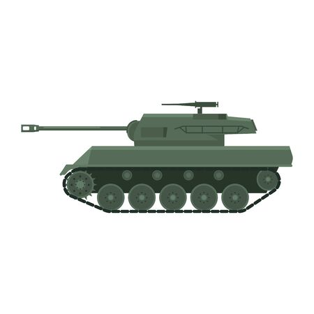 Tank American World War 2 Gun Motor Carriage M18, Hellcat. Military army machine war, weapon, battle symbol silhouette side view icon. Vector illustration isolated