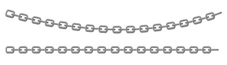 Chain metal links. Straight curved security element