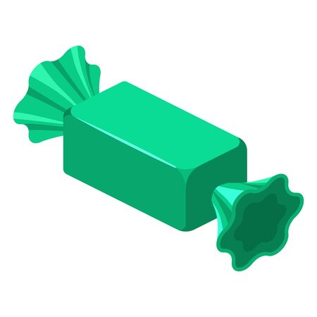 Candy wrapped isometric sweet food