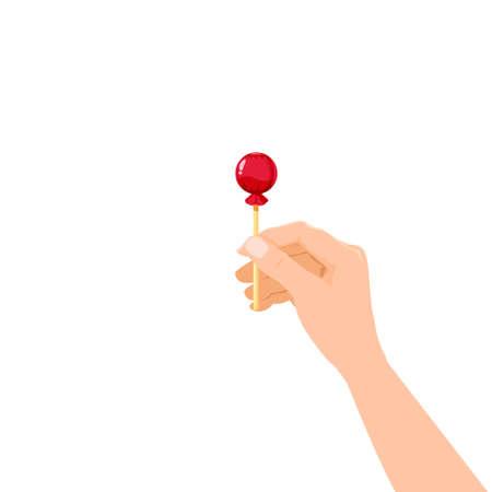 Hand hold candy Lollipop dessert sweetness