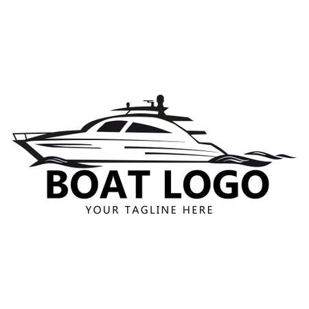 Speed Boat   design template, boat, yacht, waves. Icon brand for identify for business. Vector illustration