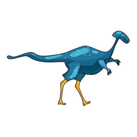 Funny prehistoric Dicraeosaurus dinosaurus. Ancient wild monsters reptiles cartoon style. Vector isolated 向量圖像
