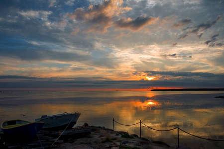 sunset at baltic sea photo