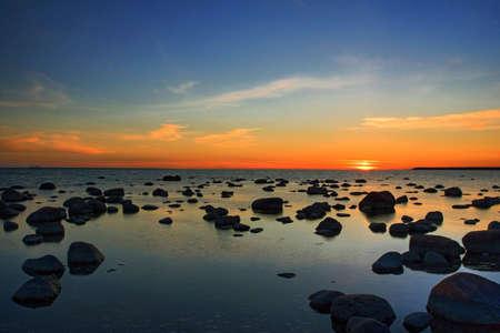 sunset at baltic sea near Tallinn
