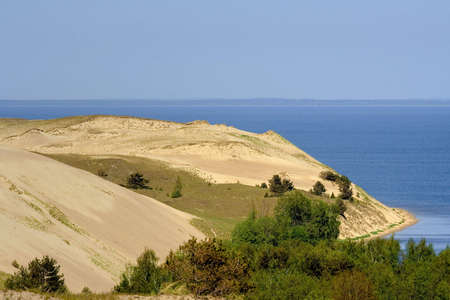 lonelyness: dunes and baltic sea near Nida, Lithuania Stock Photo