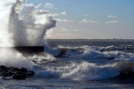 tallinn: storm in the tallinn Stock Photo