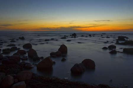 sunset at baltic sea coast near Tallinn Stock Photo - 3686823