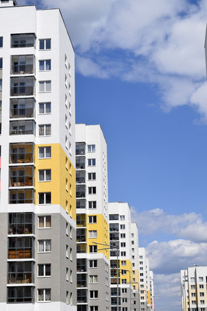 multifamily: The facade of the buildings