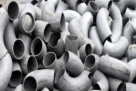 alloy: Pipes and bends steel Stock Photo