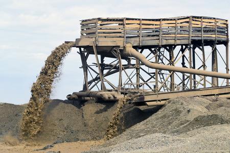 gold mining: mining Stock Photo
